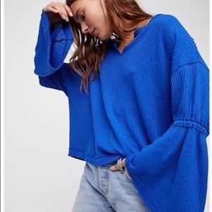 nwt // free people dahlia thermal top